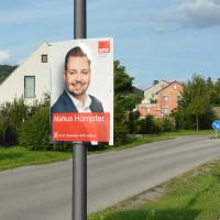 Wahlplakat von Markus Hümpfer (Bild: J. Kößler)