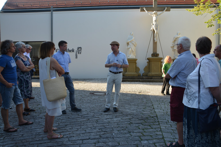Stadtrundgang der SPD mit Iphofens Stadtplaner Herrn Ullrich